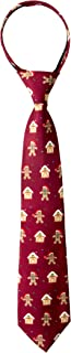 Spring Notion Boy's Printed Microfiber Christmas Theme Pretied Zipper Tie