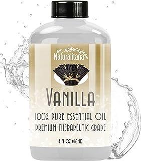 Best Vanilla Essential Oil (4oz Bulk Vanilla Oil) Aromatherapy Vanilla Essential Oil for Diffuser, Soap, Bath Bombs, Candl...