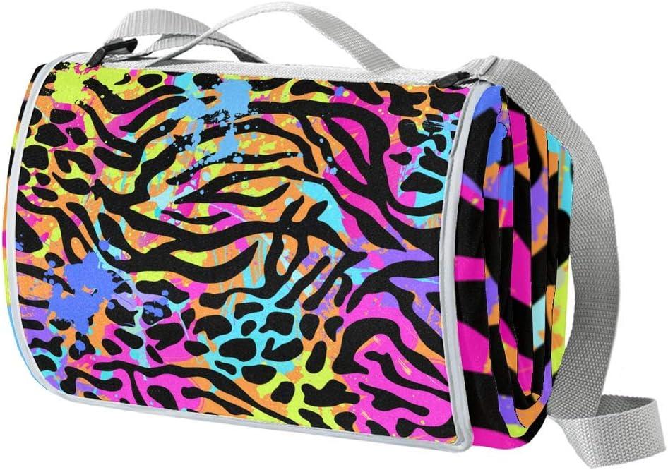 Desheze Picnic Blanket Leopard Bea Purple Beach Our shop Cash special price OFFers the best service Foldable