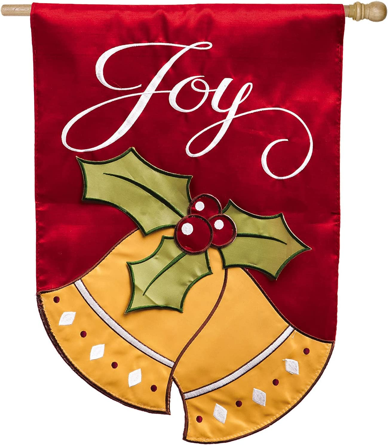 Evergreen Flag Time sale Joyful Christmas Applique Bells House New products world's highest quality popular