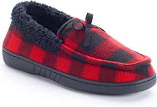 Urban Pipeline Boys Plaid Moccasin Slippers BUP53SL002