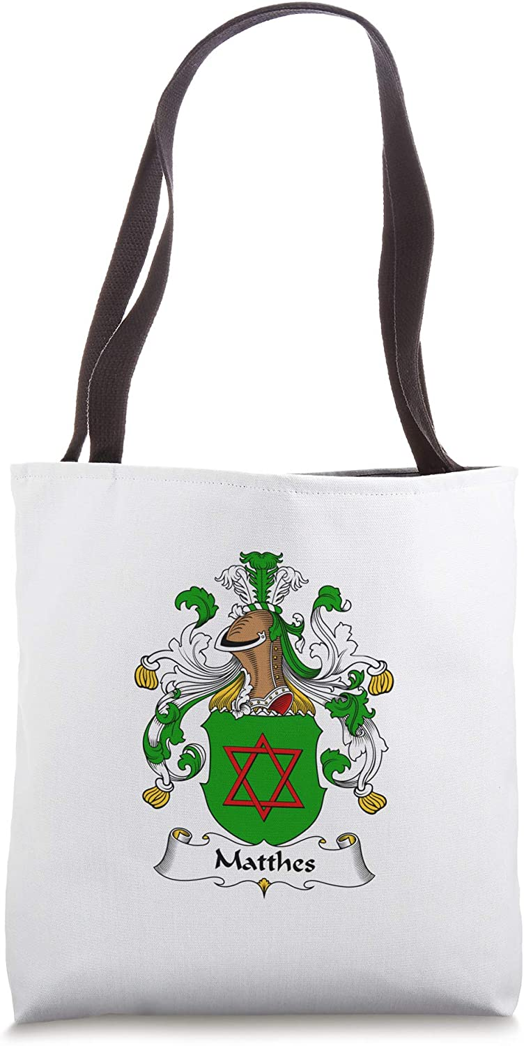 Matthes Coat of Arms - Family Crest Tote Bag