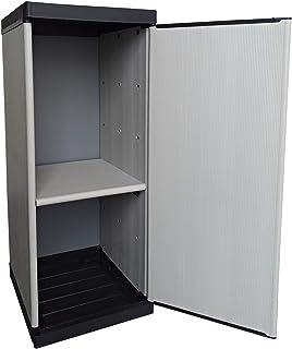 Buyly Armario para bombonas para interior y exterior de 1 puerta con estantes regulables en altura 34 x 395 x 85 cm