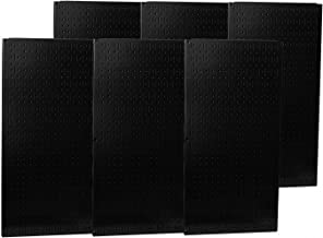 product image for Wall Control Industrial Metal Pegboard - Black, Six 16in. x 32in. Panels, Model Number 35-P-3296BK