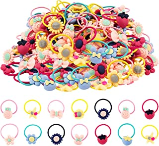 Girl Hair Ties,60 Pcs Rubber Bands Elastic No Damage Colorful Soft Pigtail Holders for Infants Toddlers Kids Little Girls…