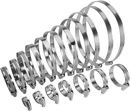 Bandbreite 12 mm 5 St/ück Schlauchschellen Edelstahl V2A W4 DIN 3017 Spannbereich 140-160 mm