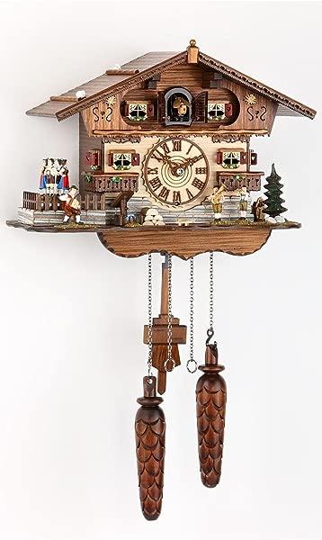 German Cuckoo Clock Quartz Movement Chalet Style 10 00 Inch Authentic Black Forest Cuckoo Clock By Trenkle Uhren