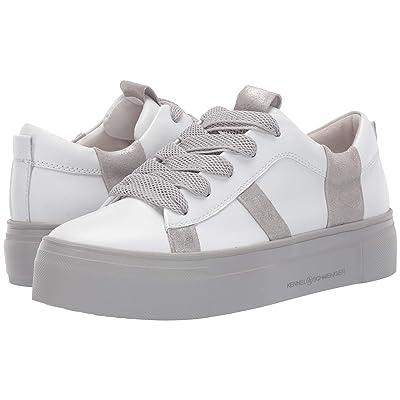 Kennel & Schmenger Big Striped Sneaker (Bianco Calf/Silver Metallic) Women