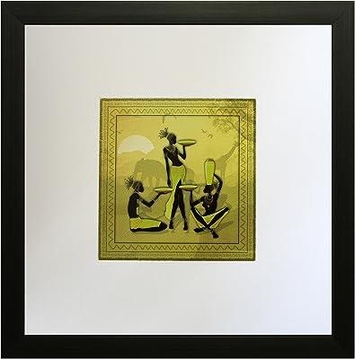 SAF Textured Print with UV Framed Reprint Painting (SANFO570, 25 cm x 3 cm x 25 cm) SANFO570