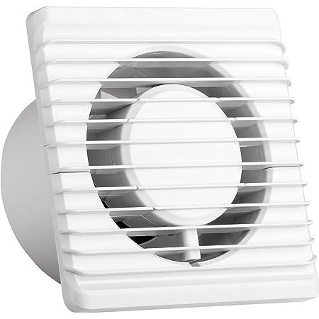 Ventilateur universel avec clapet anti-retour Ø 100mm/10cm pour salle de bain et cuisine, faible consommation d'énergie 8 W, fonctionnement silencieux 26 dB et haute efficacité 93 m3/h. Systerm Energy