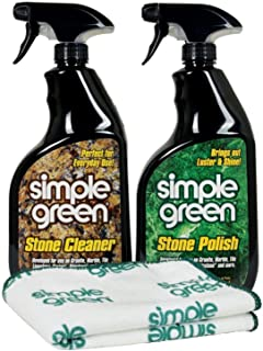Simple Green Stone Cleaner and Polish Kit with Microfiber Towel32 Oz Each