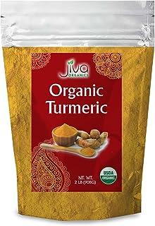 Jiva Organics Turmeric Powder 2 Pound Bag with Curcumin & Non-GMO - Value Size!