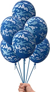 Navy Marines Military Blue Camouflage 20 Count Party Balloon Pack - Large 12