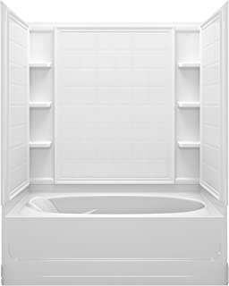 STERLING 71100122-0 Ensemble Bath and Shower Kit, 60-Inch x 36-Inch x 72-Inch, Right-Hand, White