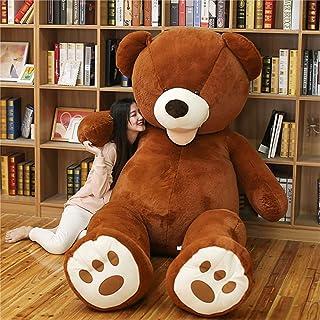 HYAKURIぬいぐるみ  くま クマ 熊 テディベア 抱き枕 クッション 特大 かわいい オシャレ お祝い (ダークブラウン, 200)