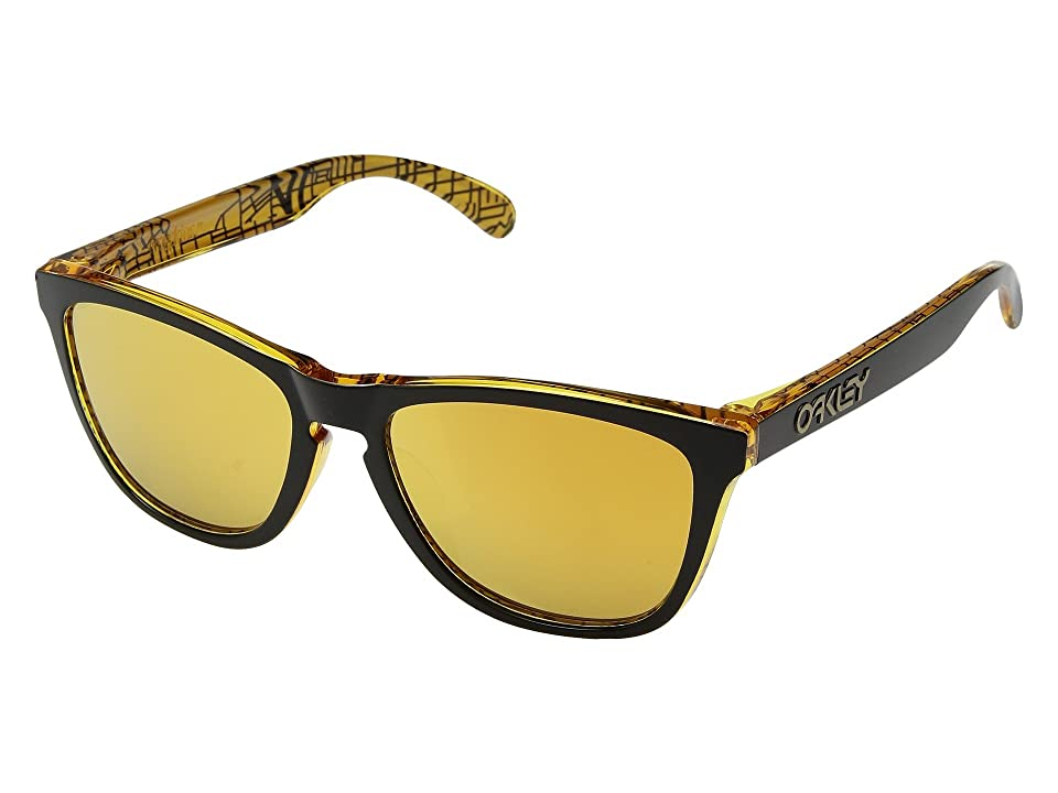 Oakley Frogskins Urban Commuter IML (A) (LA Black w/ 24K Iridium) Athletic Performance Sport Sunglasses