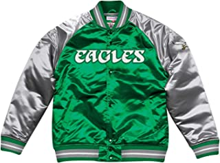 mitchell and ness eagles satin jacket