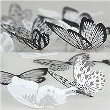 36 * 3D vlindermuurstickers slaapkamer wanddecoratie muursticker sticker meubelwanddecoraties eenvoudig te demonteren PVC-...
