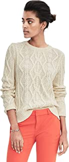 Cable Crewneck Sweater Color Cocoon