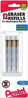 Pentel Refill Eraser for Mechanical Pencils, 3 Tubes per pack, 4 erasers per tube