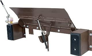 Vestil YRD-20-8536-H Steel Yard Ramp Hydraulic Dockleveler Capacity 85 x 36 Earth-Tone Brown 20000 lb