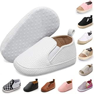 JOINFREE Infant Baby Girl Boy Canvas Shoes Soft Sole Slippers Ankle Sneaker Toddler Grib Shoes First Walker