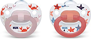 NUK Orthodontic Pacifiers, Girl, 0-6 Months, 2-Pack