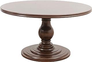 """Homelegance Oratorio 54"""" Round Pedestal Dining Table, Dark Cherry"""
