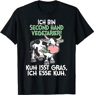 Ich bin Second Hand Vegetarier - Kuh Spruch Sprüche Fun T-Shirt