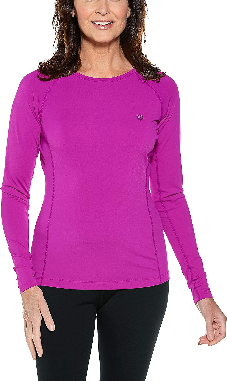 Coolibar UPF 50+ Women's Long Sleeve Hightide Swim Shirt  Sun Predective