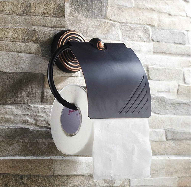 online al mejor precio Lanrennb - Soporte de de de Papel higiénico para bao (latón, Multiusos), Color Negro  barato