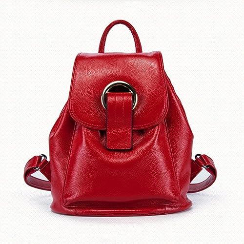 MDD Rucksack Quaste Tasche Damen l ig tragbare Multifunktions-Reise-Rei rschluss mit Größer Kapazit Sicherheit leicht und bequem sch im Aussehen wild,rot