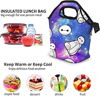 Lunch Bag - Galaxy Baymax Insulated Lunch Tote Boxes Cooler Bag For Adults Men Women Kids Boys Nurses Teens
