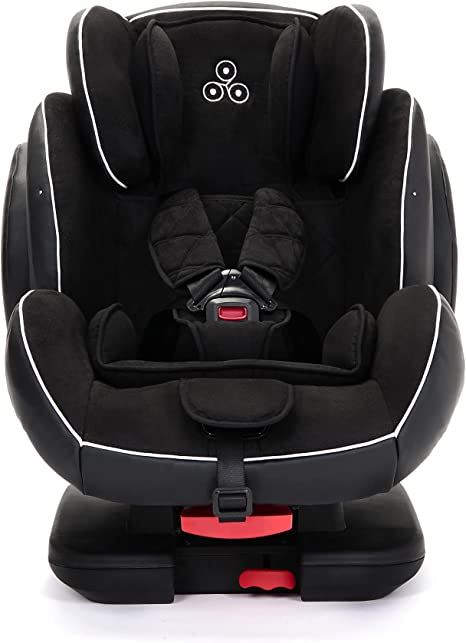 Ickle Bubba Solar ISOFIX Car Seat   Group 1-2-3 from 9kg to 36kg   Magnetic Buckle Closure, Top Tether   Reclining Car Seat   Black: image