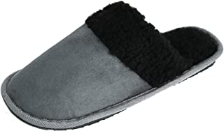 Westend Men's Solid Color Slip on Slippers, Small (7-8), Grey
