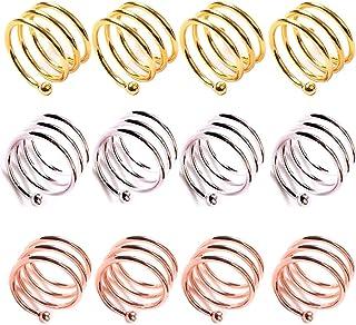 Ototon Ronds de Serviette en Plastique Anneaux Bague Color/é Porte-Serviettes de Table pour Anniversaire No/ël Mariage Banquet Restaurants 50pcs