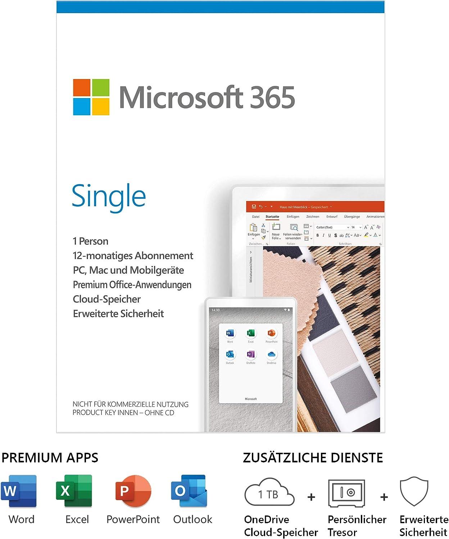 microsoft 365 single 1 jahr kostenlos)