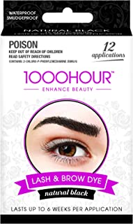 1000 HOUR Eyelash & Brow Dye Kit, Black, 72g