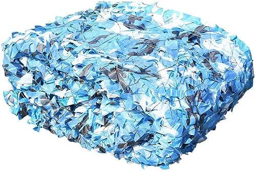 Camouflage parasol Filet De Camouflage Océan Bleu Camo Net Abri De Prougeection Solaire De Plage Armées Sur Le Thème Décoration De Fête Dens Build (Taille   6x8m)