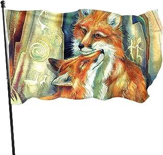 Garden Flag Fox Love Outdoor Yard Flag Wall Lawn Banner Home Flag Decoration 3' X 5'