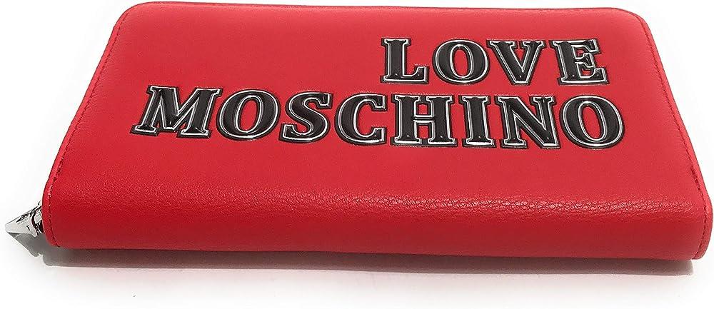 Love moschino, portafogli donna, 100% ecopelle A21MO16