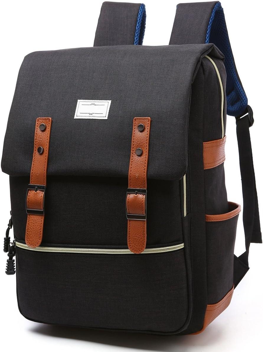 Spring new work Apiidoo Great interest Unisex Vintage Canvas Leather Rucksack S Laptop Backpack