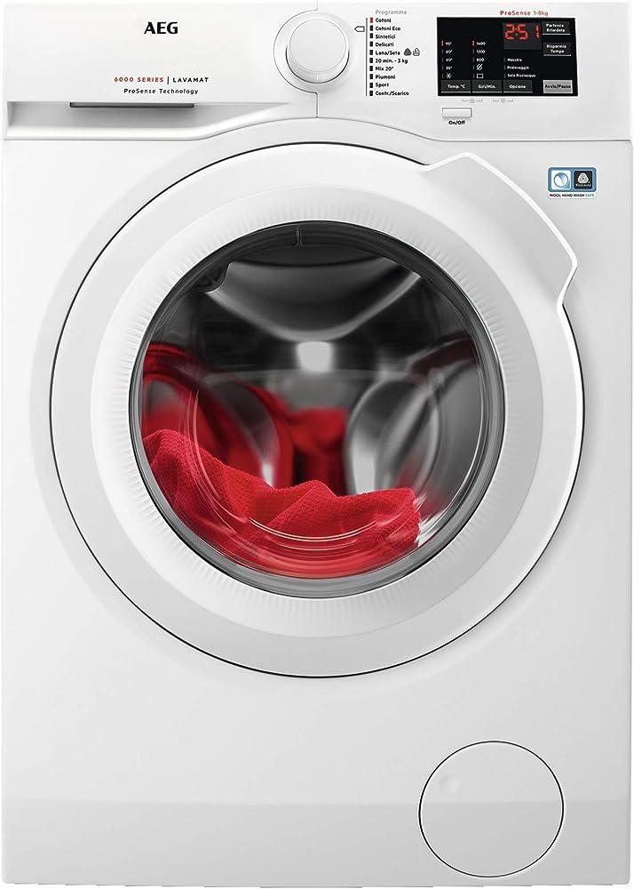 Aeg lavatrice freestanding a carica frontale, 8 kg, 50 db, a+++ L6FBI841