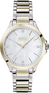 Hugo Boss Women's White Mother Of Pearl Dial Two Tone Stainless Steel Watch - 1502526