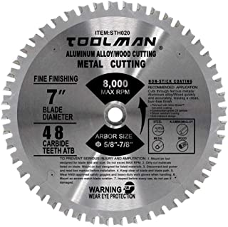 Lion Tools STH020 Toolman Premium Multifunctional Carbide-Tipped Circular Saw Blade Universal Fit 7