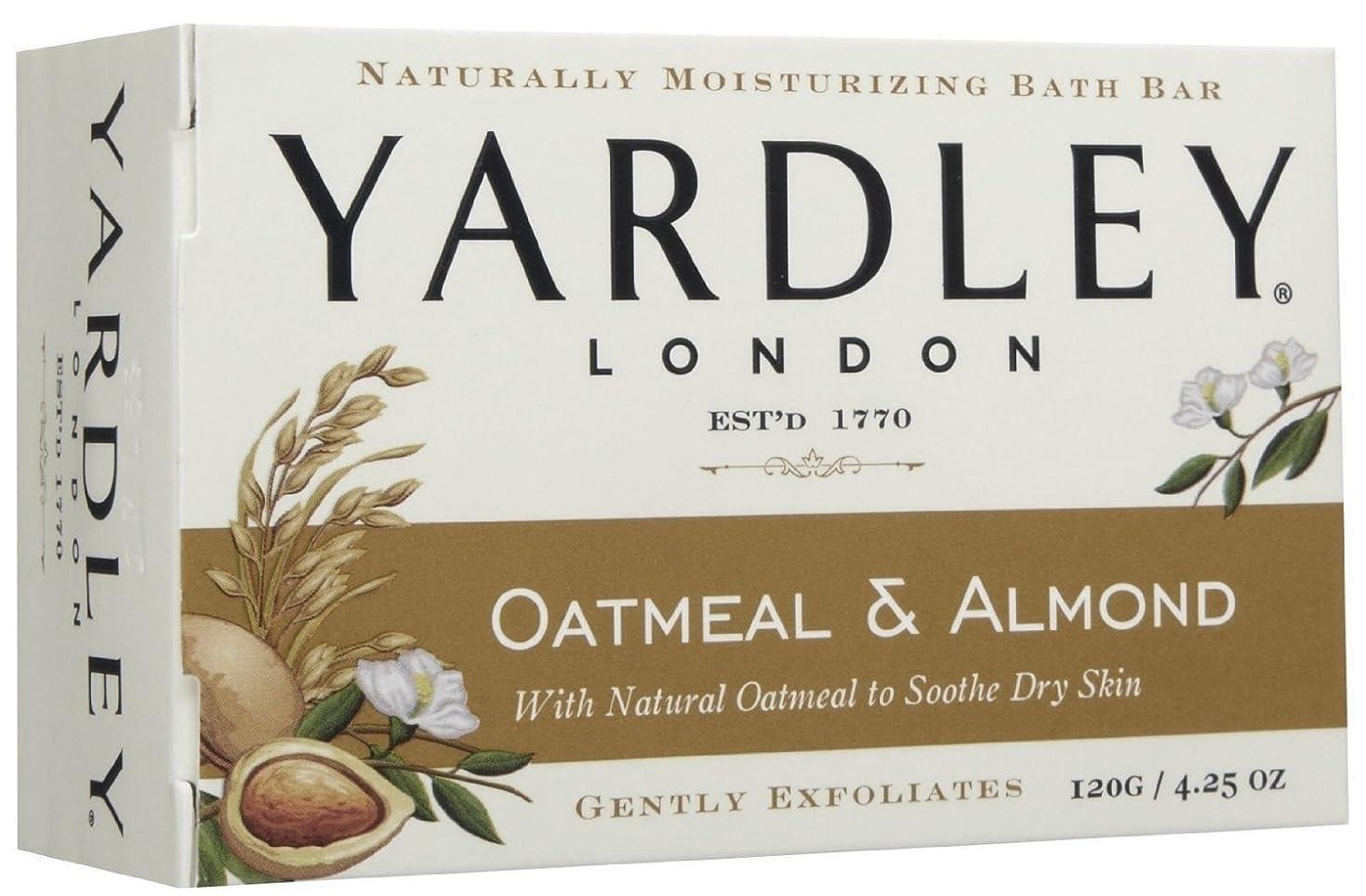 メタルライン彼自身欲求不満Yardley London (ヤードリー ロンドン) オートミール&アーモンド モイスチャライズ バス ソープ 120g [並行輸入品]