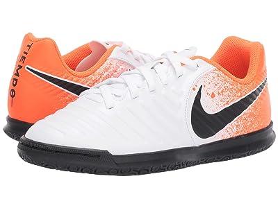 Nike Kids LegendX 7 Club IC Soccer (Toddler/Little Kid/Big Kid) (White/Black/Hyper Crimson) Kids Shoes