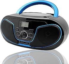 LONPOO Portátil Bluetooth Reproductor de CD Boombox 4W (FM