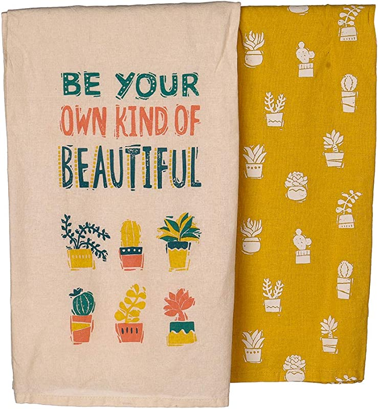 Primitives By Kathy Kitchen Dish Towel Set Be Your Own Kind Of Beautiful Cactus Patterned Towels 28 Square Dishtowels