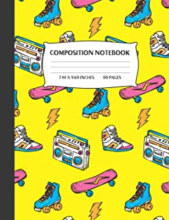 Composition Notebook: I Love The 80s College Ruled Lined Journal
